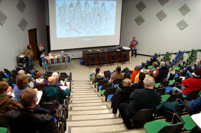 "A screening of ""Lost Nation: The Ioway 2 & 3"" at Augustana College in Sioux Falls, South Dakota."